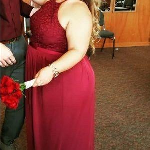 David's Bridal- Bridesmaid Dress- Wine